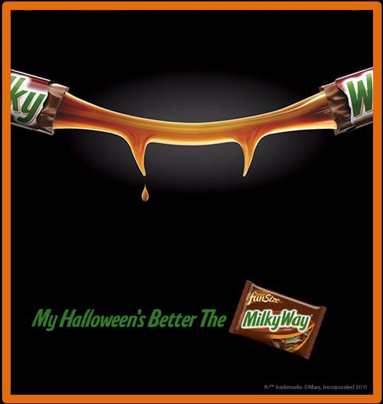 Halloween Creative Ads.Celebrating Halloween The Milky Way Giveaway Diaries Of