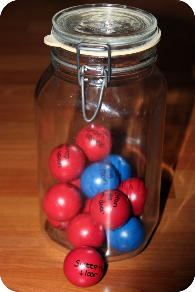 ping pong balls make chores fun