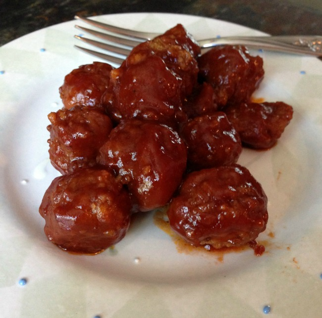 Slow Cooker Party Meatballs Recipe | Diaries of a Domestic