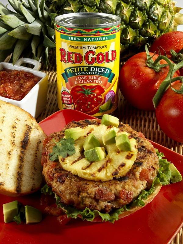 caribbean chicken burger