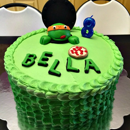 Fabulous Mikey Ninja Turtle Birthday Cake Diaries Of A Domestic Goddess Funny Birthday Cards Online Fluifree Goldxyz
