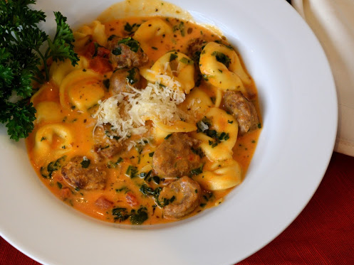Creamy Tortelline And Sausage Soup