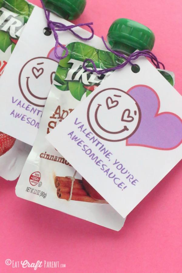 non candy valentine's applesauce