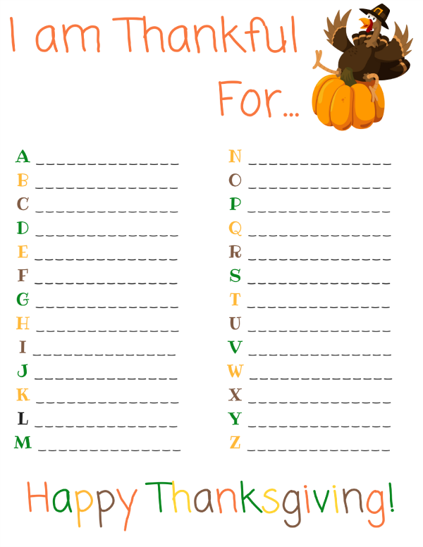 This is a graphic of I Am Thankful for Printable for craft