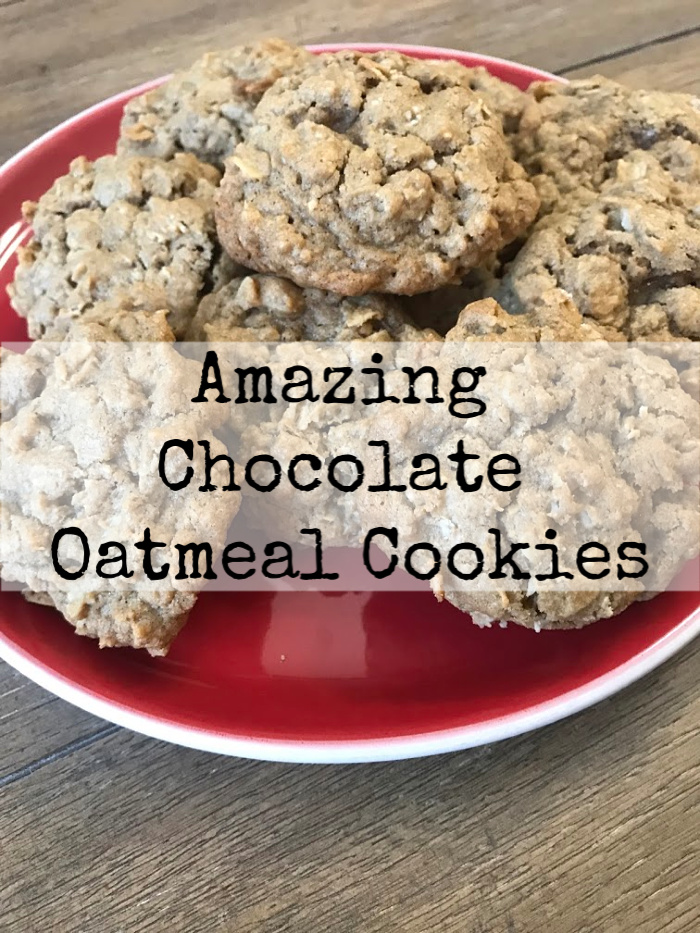 Delicious recipe for chocolate oatmeal cookies. You can make these ahead and freeze them! Take one out as you need it or thaw the day before!
