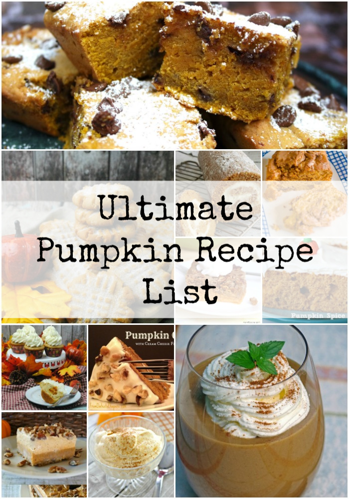 ultimate pumpkin recipe