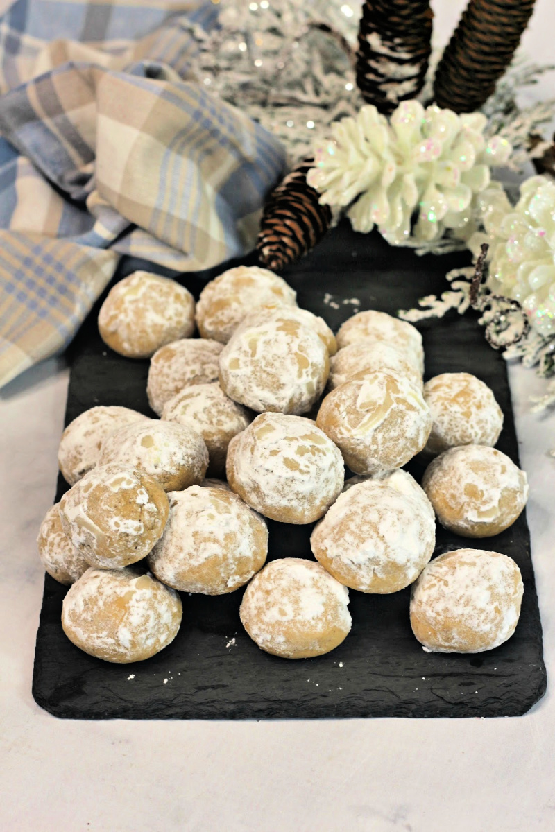 ginger butter snowball cookies