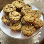 english toffee banana muffins